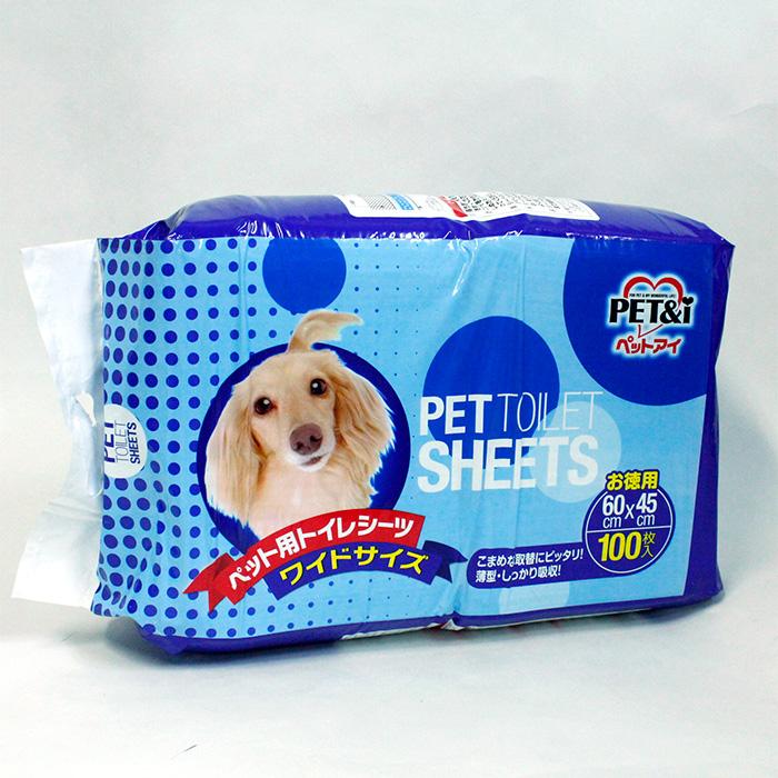 PET&I ペット用トイレシ-ツ ワイドサイズ 60x45cm 100枚