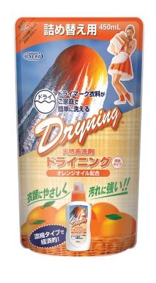 UYEKI ドライニング液体タイプ詰替 450ml【衣料用合成洗剤】