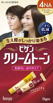 ホーユー ビゲンクリームトーン 4NA ナチュラリーブラウン【白髪用カラーリング剤】