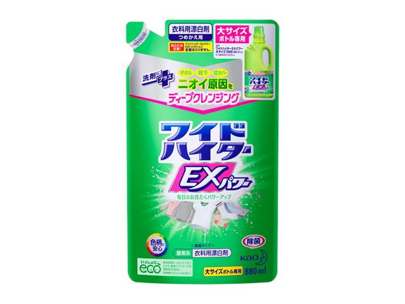 花王 ワイドハイター EXパワー(大) つめかえ用 880ml