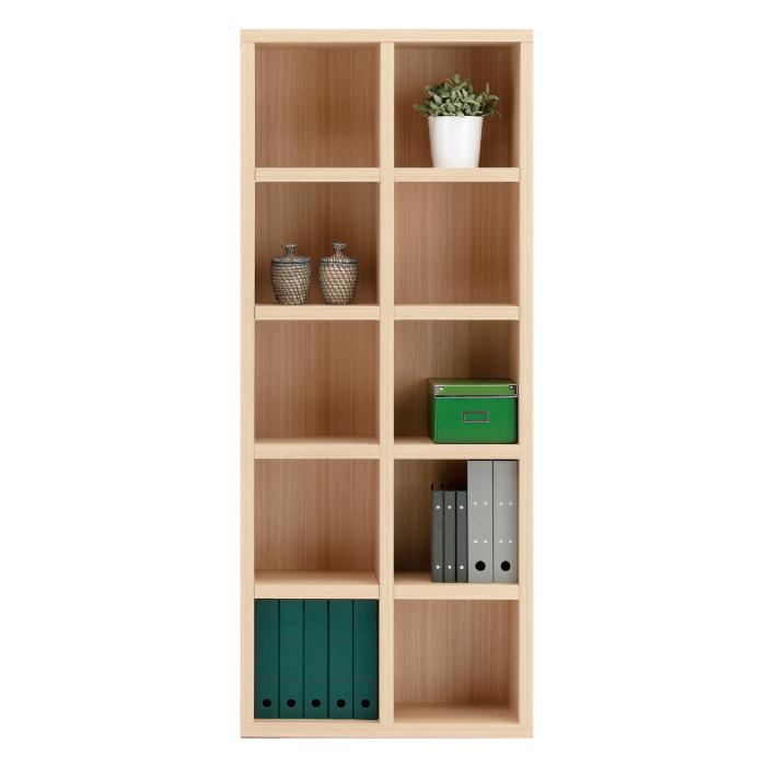 【お取り寄せ】フナモコオープン書棚FBA-75Tエリーゼアッシュニューラチスハイタイプブックボード書斎