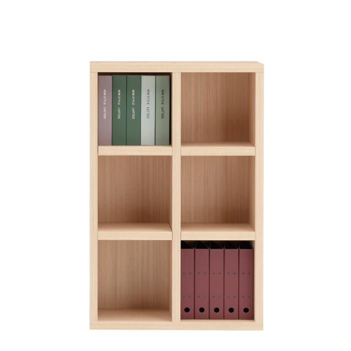 【お取り寄せ】フナモコオープン書棚FHA-75Lエリーゼアッシュニューラチスロータイプブックボード書斎