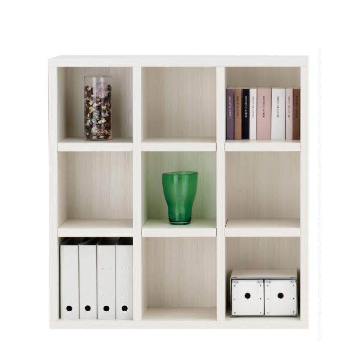 【お取り寄せ】フナモコオープン書棚FHS-110Lホワイトウッドニューラチスロータイプブックボード書斎