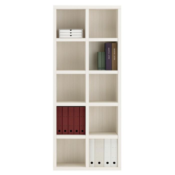【お取り寄せ】フナモコオープン書棚FBS-75Tホワイトウッドニューラチスハイタイプブックボード書斎