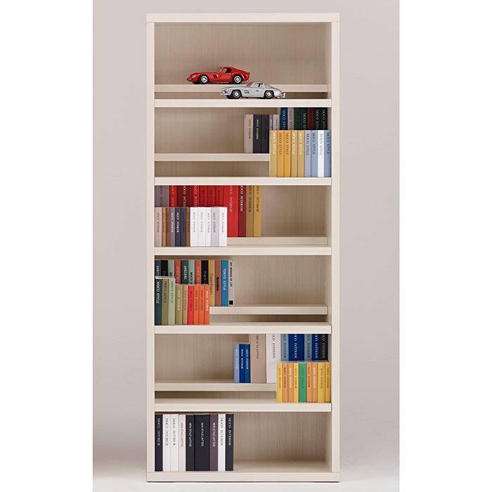 【お取り寄せ】フナモココミックシェルフCBS-75Tホワイトウッド壁面スタイル書棚ブックボード漫画小説