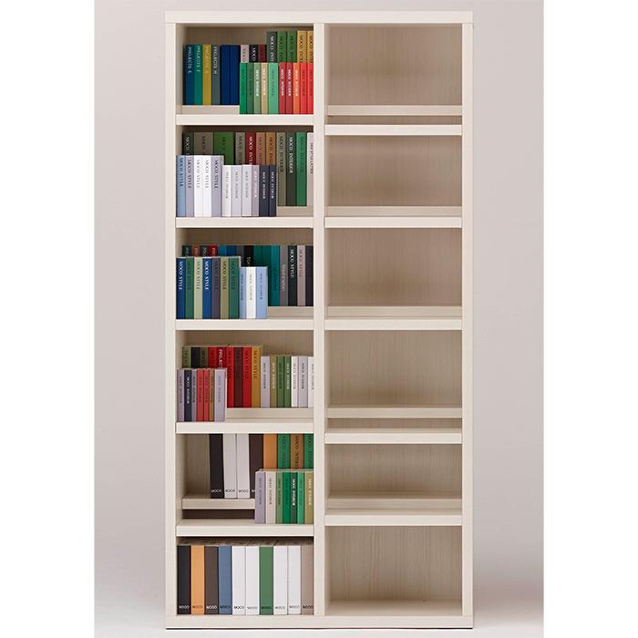 【お取り寄せ】フナモココミックシェルフCBS-90Tホワイトウッド壁面スタイル書棚ブックボード漫画小説