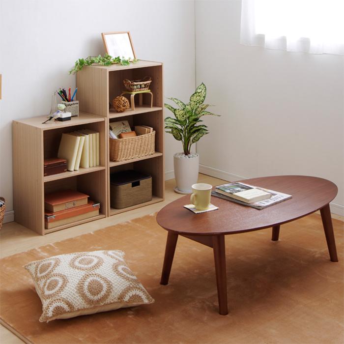 【組立式】IRIS(アイリスオーヤマ) CBボックス 2段 CX-2 フレンチオーク ベーシックタイプ 木製家具 カラーボックス
