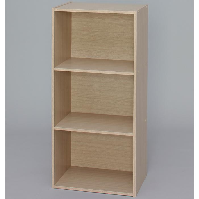 【組立式】IRIS(アイリスオーヤマ) CBボックス 3段 CX-3 フレンチオーク ベーシックタイプ 木製家具 カラーボックス