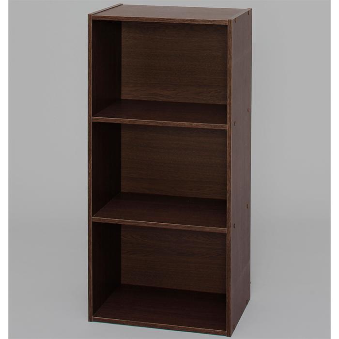 【組立式】IRIS(アイリスオーヤマ) CBボックス 3段 CX-3 ブラウンオーク ベーシックタイプ 木製家具 カラーボックス