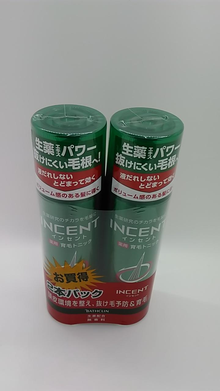 バスクリン モウガ インセント 薬用育毛トニック 無香料 180g 2本セット