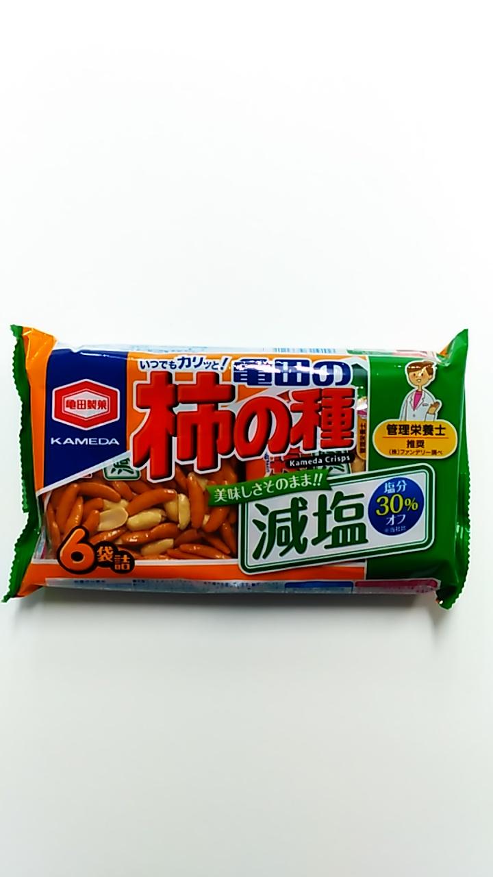 亀田製菓 減塩柿の種 6袋入