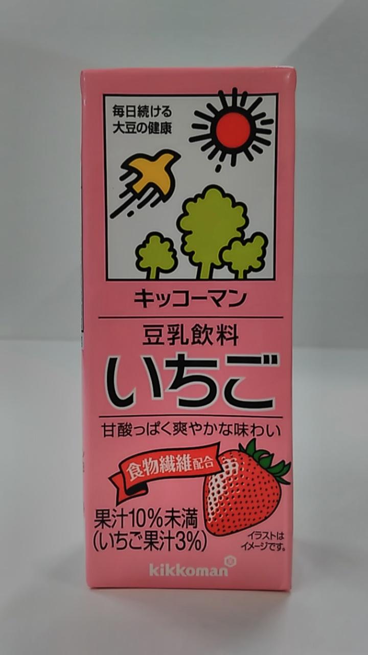 キッコーマン豆乳飲料いちご200ml