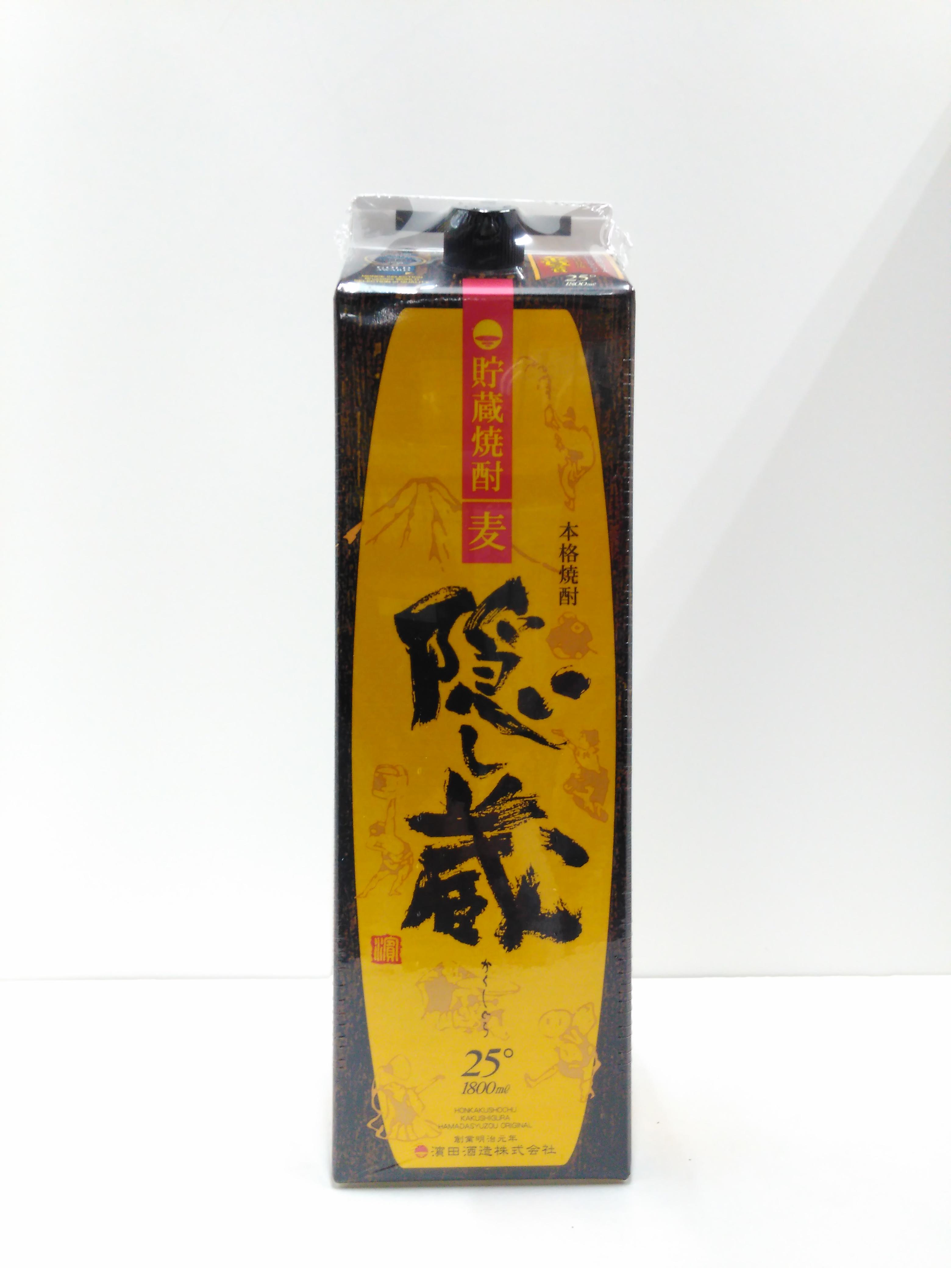 【TAKEYAスマイル便 対象品】隠し蔵 熟成貯蔵麦焼酎 25度 1800mlパック