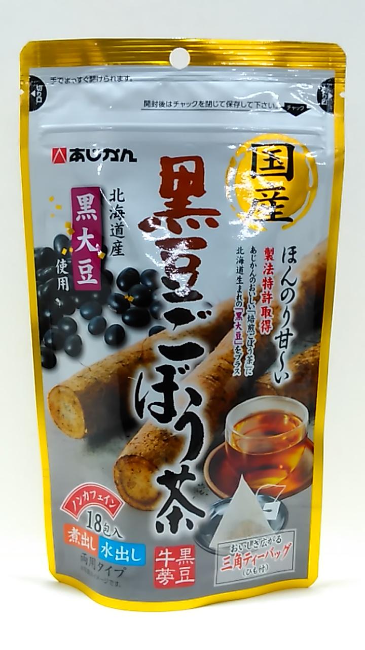 あじかん 国産黒豆ごぼう茶 (1.5g×18包)