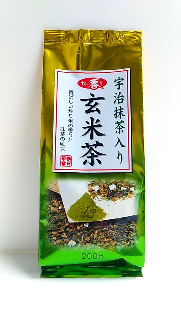 【TAKEYAスマイル便 対象品】牧の香り 宇治抹茶入り 玄米茶 200g