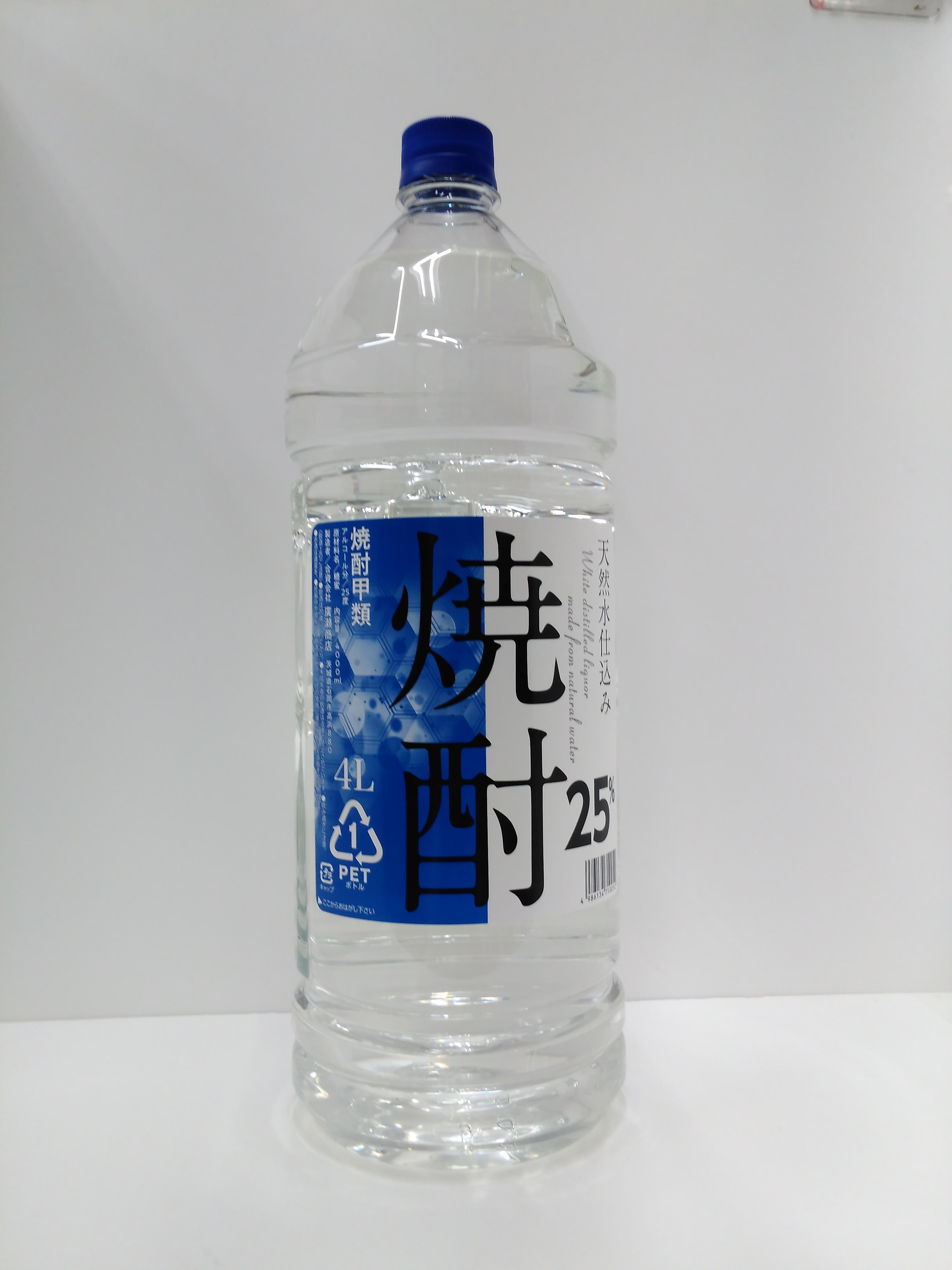 【TAKEYAスマイル便 対象品】廣瀬 焼酎 25度 4000ml