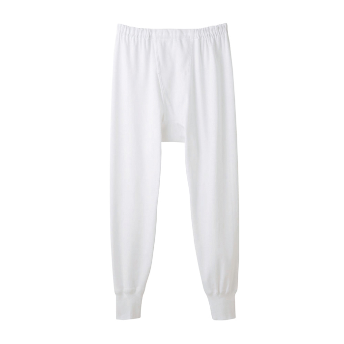 グンゼ快適工房KH3802ホワイトサイズL8分丈ズボン下(前あき【GUNZE】