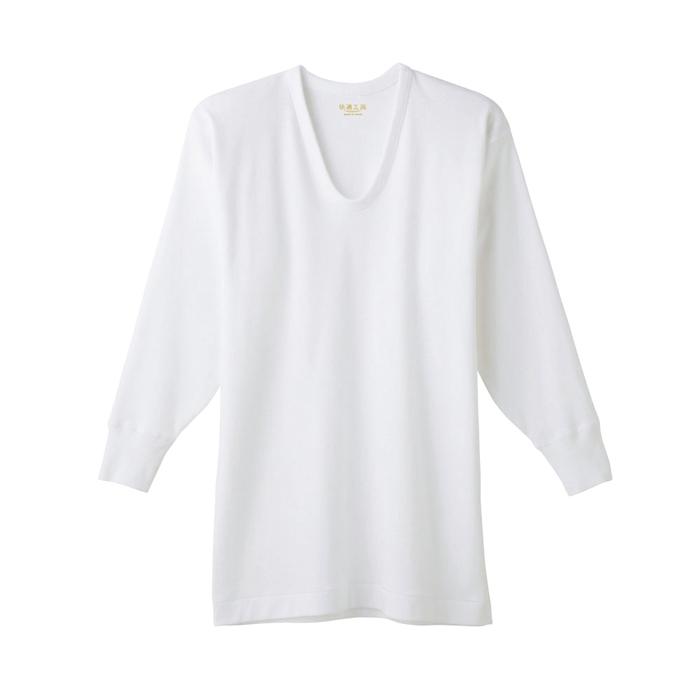 グンゼ快適工房KH3810ホワイトサイズM8分袖U首【GUNZE】