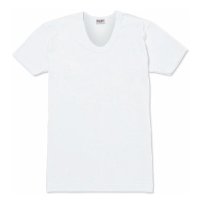 BVDG0143ホワイトサイズLメンズ半袖肌着【BVD】