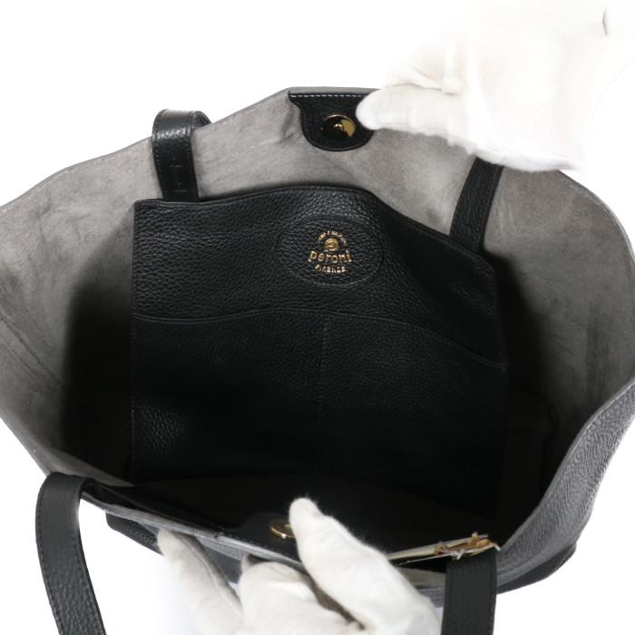 PERONIペローニレザートートバッグ028ブラックグレー