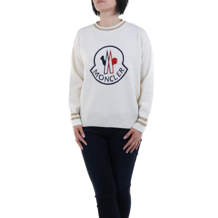 【送料無料!】モンクレール 90508 2 ホワイト レディース セーター 【MONCLER WH】