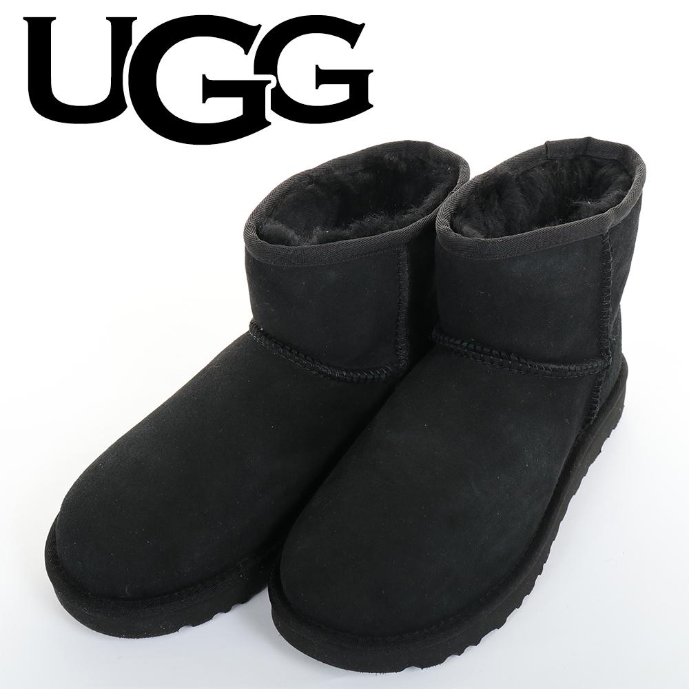 UGG(アグCLASSICMINIII1016222BKブラックムートンブーツクラシックミニWOMENSレディース9(26cm
