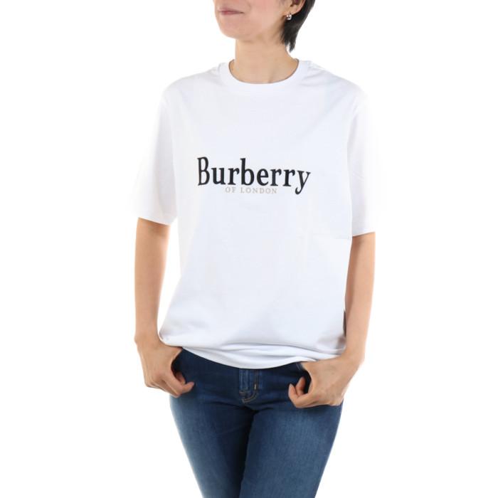 【送料無料!】バーバリー 8005940 ホワイト レディース 半袖Tシャツ 【BURBERRY WH】