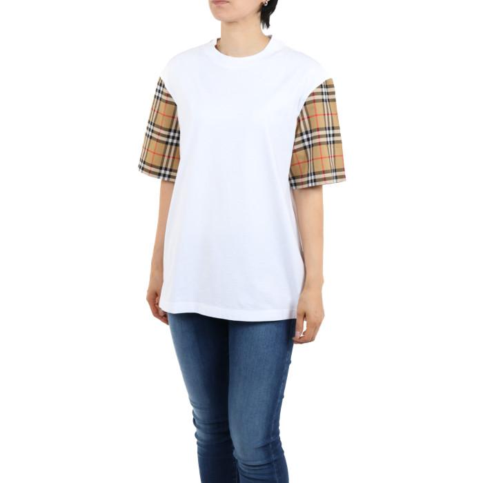 【送料無料!】バーバリー 4072349 ホワイト レディース 半袖Tシャツ 【BURBERRY WH】