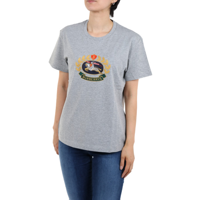 【送料無料!】バーバリー 8002931 グレー レディース 半袖Tシャツ 【BURBERRY GY】