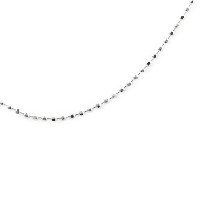 K18WGイニシャルペンダントCシルバーネックレス付き誕生日記念日ご褒美プレゼント記念品ギフト贈答品ファッションおしゃれかわいいきれい贈り物ジュエリースターカットキラキラ