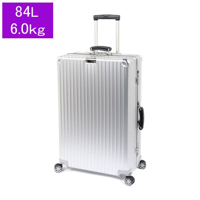 【送料無料!】リモワ RIMOWA スーツケース CLASSIC Check in L 972.73.00.4 84L 6.0kg シルバー 4泊~7泊目安 TSAロック