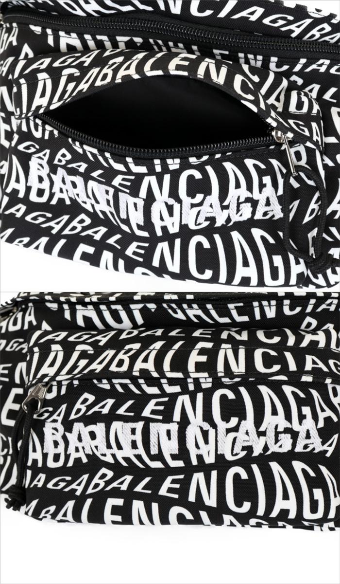 【送料無料!】バレンシアガ BALENCIAGA ベルトバッグ ボディバッグ 533009 9MIAN 1060 ブラック ホワイト メンズ レディース