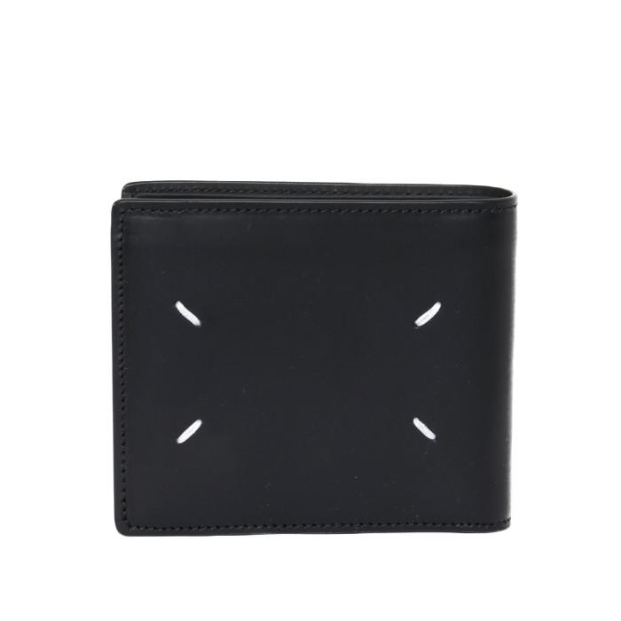 【送料無料!】メゾンマルジェラ Maison Margiela 二つ折り財布 S35UI0435 PS935 ブラック メンズ