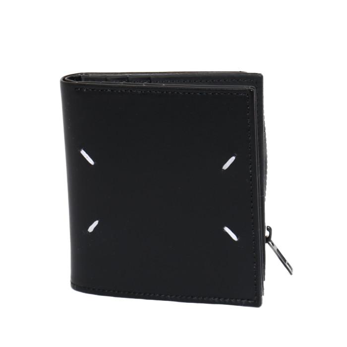 メゾンマルジェラMaisonMargiela小銭入れ付き二つ折り財布S35UI0438PS935ブラックメンズ|フランスブランドプレゼントギフト贈り物