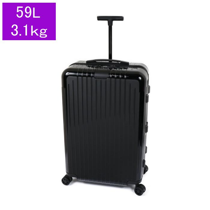 リモワRIMOWAスーツケースエッセンシャルライトチェックインM823.63.62.459L3.1kgブラックグロス3泊~5泊目安