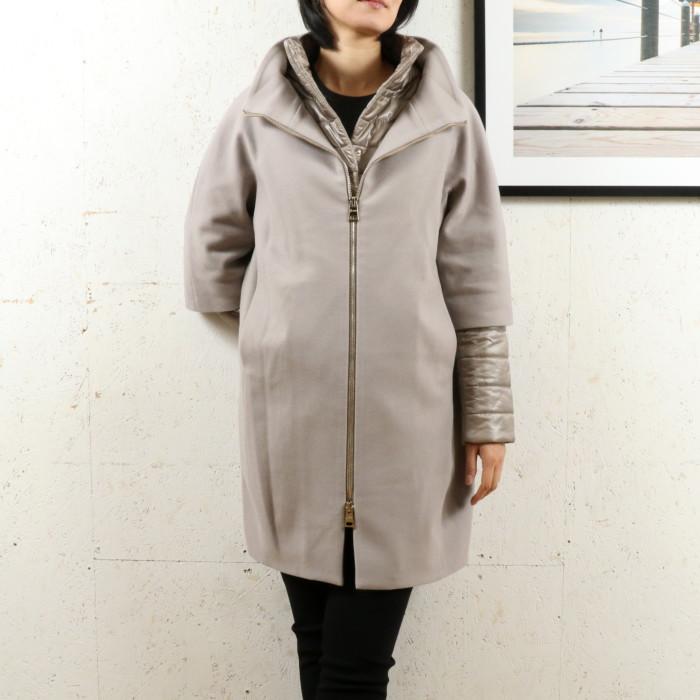 【送料無料!】ヘルノ HERNO レディース ウール中綿コート CA0040D 2600 ベージュ【BE】