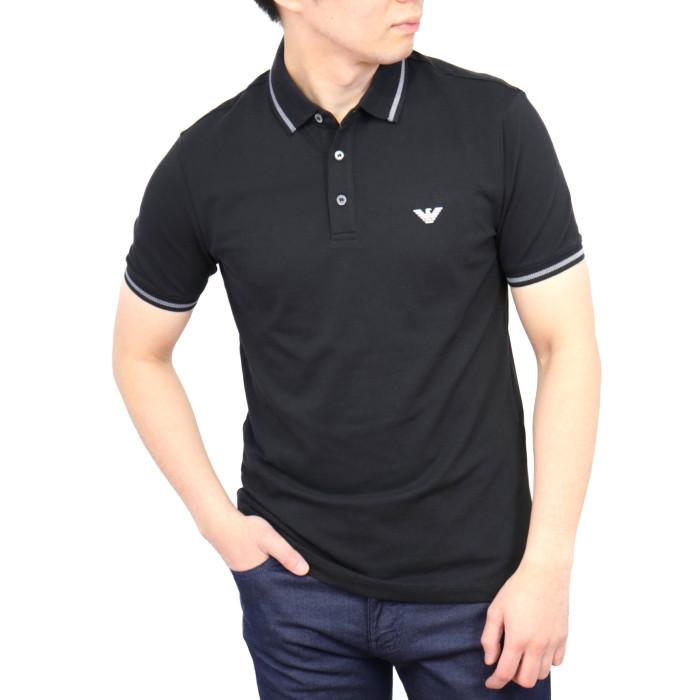 【送料無料!】エンポリオアルマーニ EMPORIO ARMANI メンズポロシャツ 3G1F930  ブラック【BK】 M