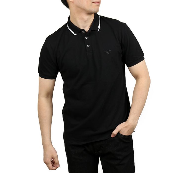 【送料無料!】エンポリオアルマーニ EMPORIO ARMANI メンズポロシャツ 3H1F82  ブラック【BK】 XXL