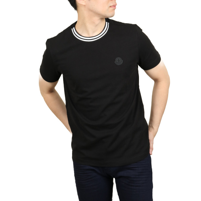 モンクレール MONCLER メンズ クルーネック半袖Tシャツ 8C717 999 ブラック【BK】2020sstshirtsco
