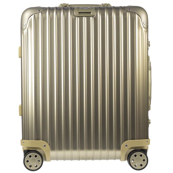 【送料無料!】リモワ RIMOWA スーツケース トパーズチタニウム 923.56.03.4 45L 5.3kg ゴールド 3泊~5泊目安 TSAロック 4輪