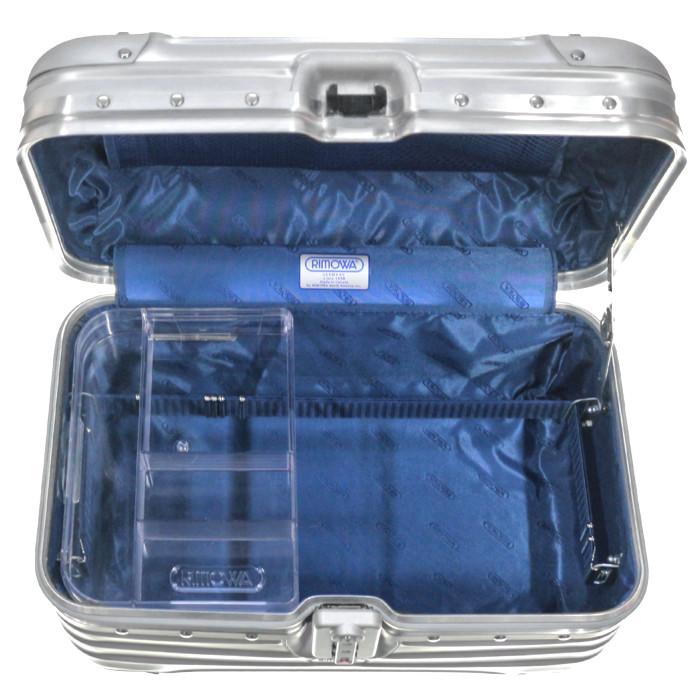 【送料無料!】リモワ RIMOWA トパーズ ビューティーケース 923.38.00.0 11L 2.1kg シルバー TSAロック 機内持ち込み可