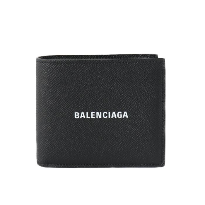 バレンシアガBALENCIAGA二つ折り財布5945490OTV31090ブラックメンズ|フランスブランド小銭入れなしスリムプレゼントギフト贈り物誕生日お祝い