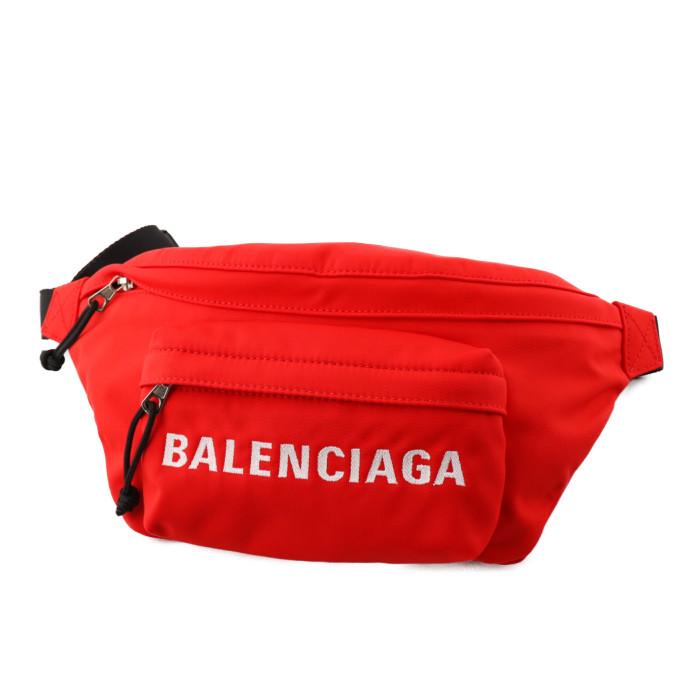 バレンシアガBALENCIAGAベルトバッグボディバッグWHEELウィール533009HPG1X6070レッドメンズレディースPRICEDBW フランスブランドおでかけカジュアル旅行トラベル