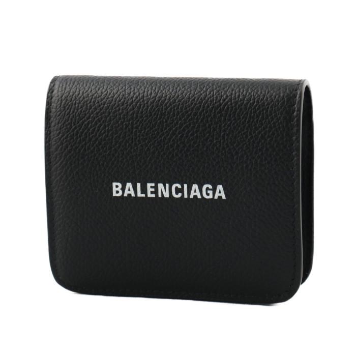 バレンシアガBALENCIAGA小銭入れ付き二つ折り財布5942161IZ4M1090ブラックレディースメンズ|フランスブランドコンパクトプレゼントギフト贈り物誕生日お祝い