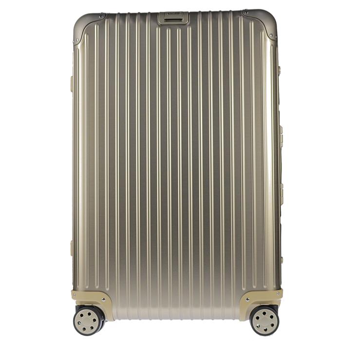 【送料無料!】リモワ RIMOWA スーツケース トパーズチタニウム 924.70.03.4 78L 7.1kg ゴールド 5泊~7泊目安 TSAロック 4輪