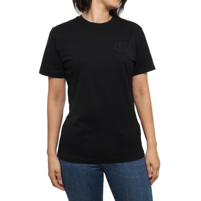 モンクレール MONCLER レディース Tシャツ 8C75900 V8161 999 ブラック【BK】