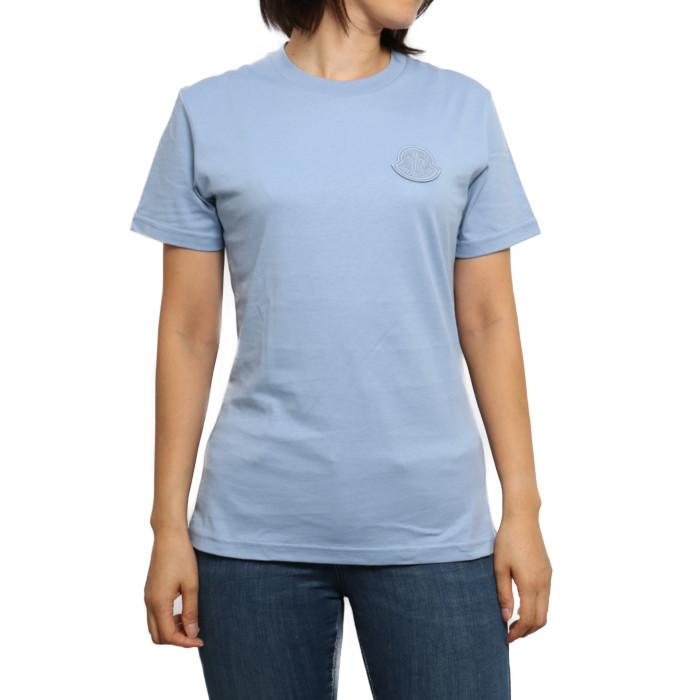 モンクレール MONCLER レディース Tシャツ 8C75900 V8161 715 ブルー【BL】