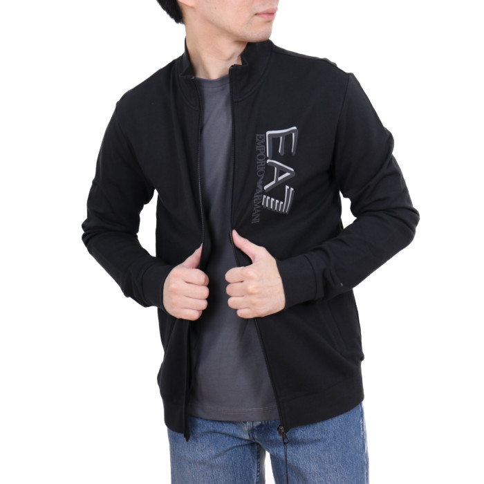 イーエーセブン EA7 メンズ スウェットジップジャケット 3HPM61  ブラック【BK】