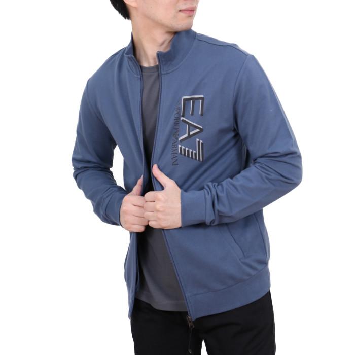 イーエーセブン EA7 メンズ スウェットジップジャケット 3HPM61  ブルー【BL】