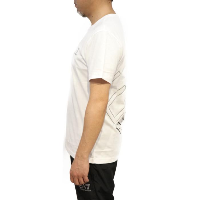 イーエーセブンEA7メンズクルーネック半袖Tシャツ3HPT12ホワイト【WH】